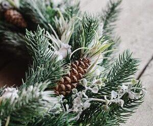 Wreath making at Torwood garden centre